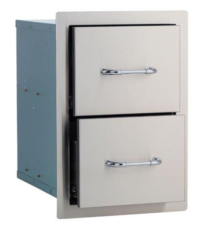 Bull Double Drawer Stainless Steel